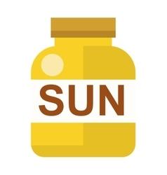 Sun vitamins vector image