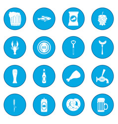 beer icon blue vector image