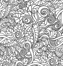 black and white seamlesspattern in a zentangle vector image vector image