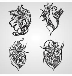 decorative ornament set vector image vector image