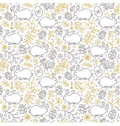 floral easter pattern vector image vector image