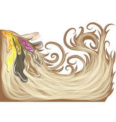 hair dye vector image vector image