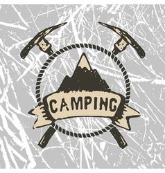 mountain camp vector image