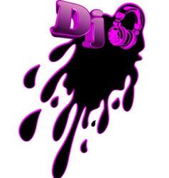 music dj splash vector image vector image