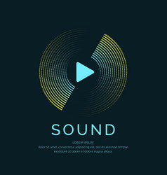 poster of the sound wave on vector image