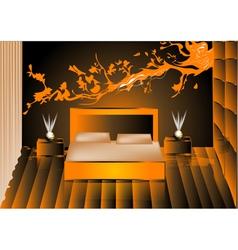 Render night bedroom vector
