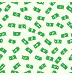 seamless pattern of the banknote cash money dollar vector image vector image