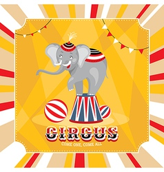 Vintage card with elephant vector