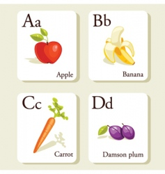 alphabet cards vector image