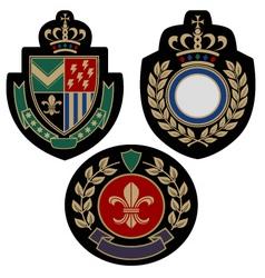 badge shield vector image