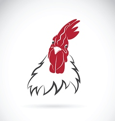 Cock head on white background vector image vector image