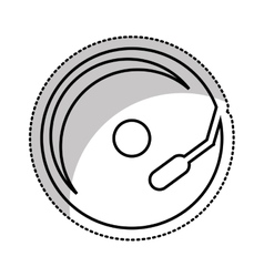 compact disk audio device icon vector image