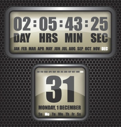 Countdown timer on octagon background vector image vector image