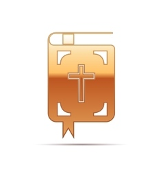 Gold bible icon on white background vector