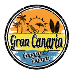 gran canaria sign or stamp vector image