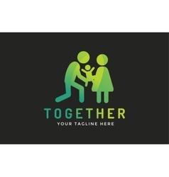 Happy family logo template vector