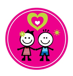 Happy family sticker vector image vector image