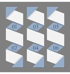 Origami paper vertical numbered banners vector image vector image