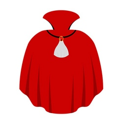 Red cape Dracula isolated mantle Vampire white vector image vector image
