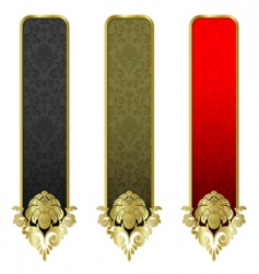 set from gold banners vector image vector image
