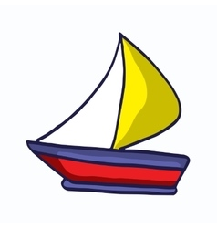 Ship simple style cartoon for kids design vector image
