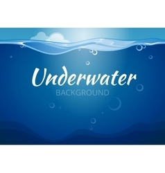 Underwater background in comic book style vector image vector image