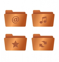 01 internet icons copper vector image