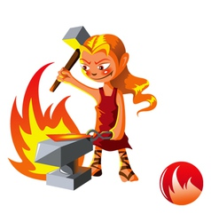 Elemental of Fire vector image