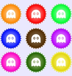 Ghost icon sign big set of colorful diverse vector
