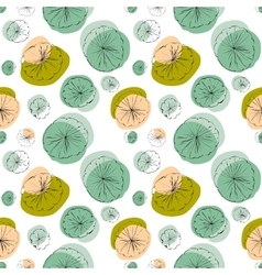 Lily pad seamless pattern vector image