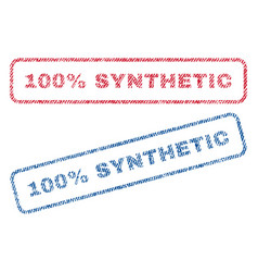 100 percent synthetic textile stamps vector image