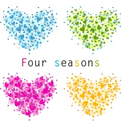 4 seasons vector image