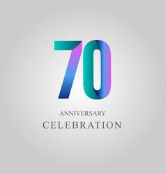 70 year anniversary celebration template design vector