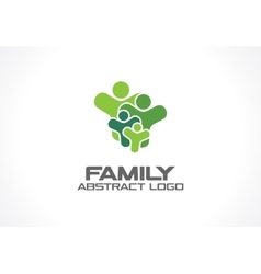 Abstract green logo for business company People vector image