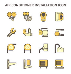 Air conditioner installation tool and copper pipe vector