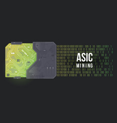 Asic mining abstract background high tech circuit vector