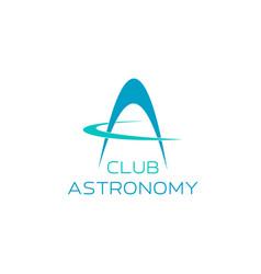 astronomy symbol for science club emblem design vector image