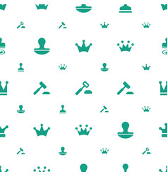 Authority icons pattern seamless white background vector