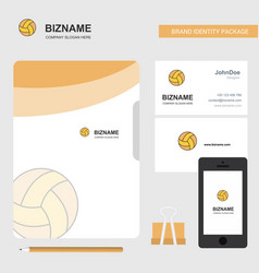 basketball business logo file cover visiting card vector image