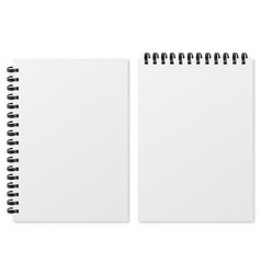 blank realistic spiral notepad on white background vector image