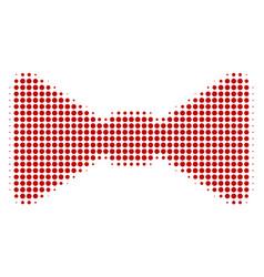 Bow tie halftone icon vector