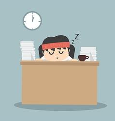 Businessman falling asleep vector
