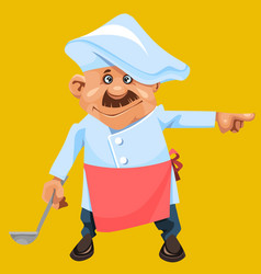 cartoon character a man in the form of a cook with vector image