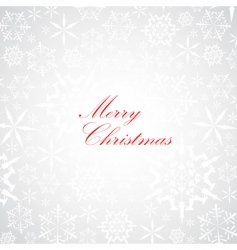 Christmas card with red text vector image
