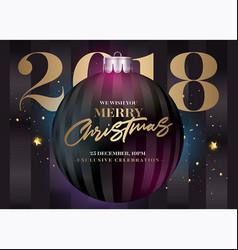 christmas greeting card holiday elegant vector image