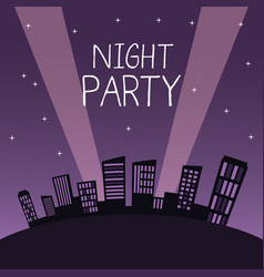 City night party vector