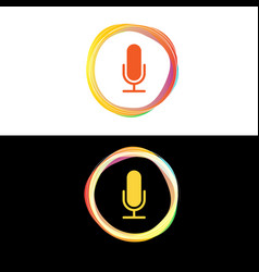 color circle voice waves vector image