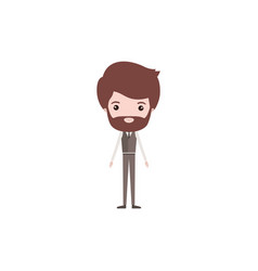 colorful caricature groom man bearded in wedding vector image