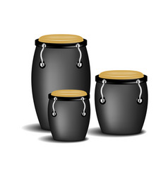 Congas band in black design with shadow vector