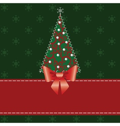 Cristmas pachwork background vector image
